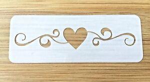 Face painting stencil reusable washable heart swirl 190 mic glitter henna tattoo
