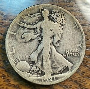 1921-D Walking Liberty Half Dollar Nice Original VG Best Price on Ebay CHN