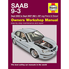 Saab 9-3 Haynes Manual 2002-07  2.0 Petrol 1.9 Turbo Diesel Workshop Manual