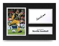 Neville Southall Signed A4 Photo Display Everton Wales Memorabilia Autograph COA