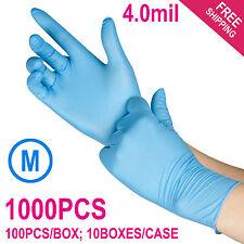 1000/Case Disposable Powder-Free Nitrile Medical Exam (Latex Free) Gloves Medium