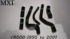 CR500 SILICONE HOSES IN Black CR500R 1990 to 2001 HONDA HOSE (408)