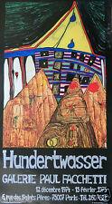 HUNDERTWASSER - AFFICHE RARISSIME  DE 75   EDITION CICERO STUTTGART