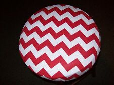 """Red Chevron Round Bar stool Cover 12"""" x 2"""" Thick"""
