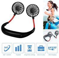 Lazy Portable Sports Hanging Neck Fan Outdoor Rechargeable Creative Mini USB Fan