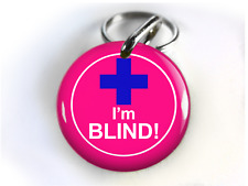 Blind Dog Id Tag Pet tag cat tag Personalized with your pet info Medical