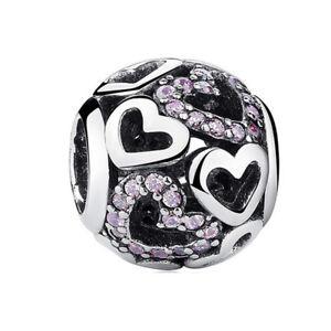 CZ 925 European silver charms bead pendant For silver bracelet chain bangle