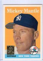 1996 TOPPS REPRINT CARD # 8/19  - HOF MICKEY MANTLE - NEW YORK YANKEES