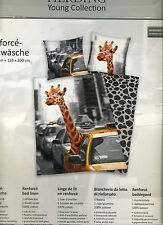 D88 Bettwäsche Bettwäschegarnituren 2 Tl.NEW YORK CITY 135 x 200 Giraffe Wende