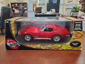'69 Chevy Corvette Stingray Modified Red 1:18 Hot Wheels LE DieCast NOS