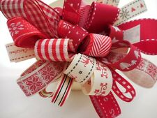 Scandinaian Christmas Ribbon Bundle 8 X 1Mtr Lengths Berisfords