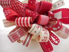 Assortiti Scandinavian Natale Nastro Fascio 8 x 1mtr Berisfords