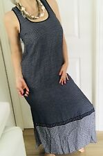 WITCHERY WOMENS DRESS MAXI PRINTED VISCOSE BLUE WHITE SLVLESS SZ 8