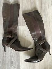 Chanel Brown Knee Length Boots Size 36