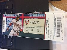 2016 MINNESOTA TWINS VS SOX TICKET STUB 9/4 BYRON BUXTON HR (GS) #6 SANO HR #40