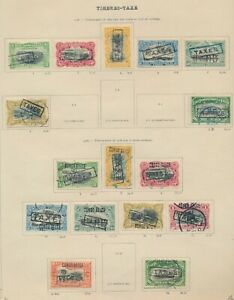 BELGIAN CONGO STAMPS 1908 POSTAGE DUE TO 10f x2, INC HANDSTAMPED+MACHINE STAMPED