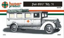 1/72 Ford G917 Kfz 31 Ambulance Winter v. Truck Hunor Model WWII RESIN kit 72027