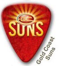 Gold Coast Suns Guitar Picks 5 Pack, Official AFL Product