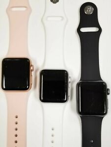 Apple Watch Series 3 Cellular Aluminum 38MM - Silver Gold Space Gray | Poor (C)