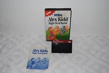 ALEX KIDD HIGH TECH WORLD COMPLETE SEGA MASTER SYSTEM