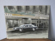 Early Work PAINT of a Car Designer 80's automobile MASERATI QUATTROPORTE 1982