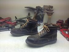 DISTRESSED STEEL TOE AMERICAN EAGLE HAMMER BLACK LEATHER LACE UP BOSS BOOTS 11W
