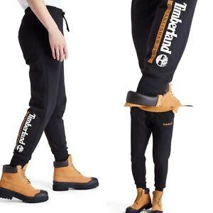 Timberland Mens Sweatpants Joggers Black Established 1973 Pants S M L XL RRP £65