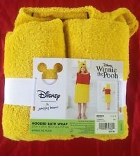 """Disney Winnie The Pooh Hooded Bath Wrap 25"""" x 50"""" by Jumping Beans NEW"""
