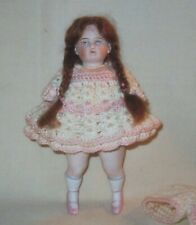 ANTIQUE ALL BISQUE DOLL #2120 / 6 PINK 2 STRAP BOOTS