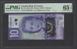 Canada 10 Dollars 2018 BC-77a Uncirculated Grade 65