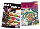 Color by Number Patterns Book Set Kids Adults Activity Advanced Coloring Books