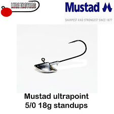 5/0 18G X 10 STANDUP ERIE JIG HEADS MUSTAD ULTRAPOINT  PIKE PERCH ZANDER FISHING