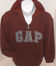 GAP Men's Brown Logo Hoodie Sweatshirt Jacket Size M