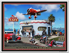 "Hot Rod Art print by Larry Grossman ""The GEE BEE CAFE"""