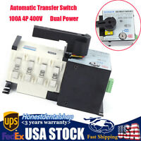 Automatic Transfer Switch 100A 4P 400V Dual Power Changeover Switch Isolation US