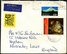 Nouvelle-Zélande 1971 commercial air mail cover to UK #C42183