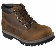 Skechers Mens Sergeants Verdict Waterproof Leather Walking Boots Size 8 New £55