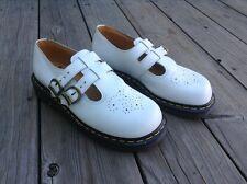 Dr Doc Martens White Leather Double Strap Mary Jane 8065 UK Size 6 US 8 England