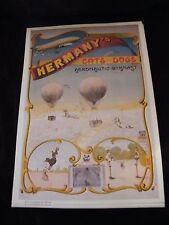 Riproduzione manifesto Ballon Di molte Gatti and Cani Aeronautico Ginnasta
