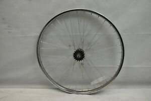 "Rear 26"" Single Speed Wheel Freewheel SS Chrome OLW110 36S 24mm AV USA Charity!!"