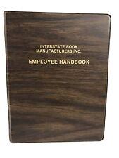 Vintage Vinyl Woodgrain 3 Ring Binder Notebook Interstate Book Manufacturers 7x9