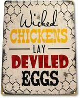"""Chicken Eggs"" Pen Coop Eggs Decor Kitchen Cottage Farm Barn Store Sign"