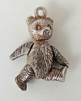 Vintage TEDDY BEAR Moveable Sterling Silver Charm 4.0 Grams
