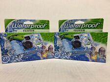 2 pack Disposable Cameras Quick Snap Waterproof, Underwater, 35 mm FujiFilm-N02