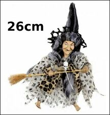 sorciere,Halloween ,26cm,objet de légende, poupée, witch, heks  G26/27
