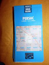 Carte IGN bleue 1828 E persac 1981