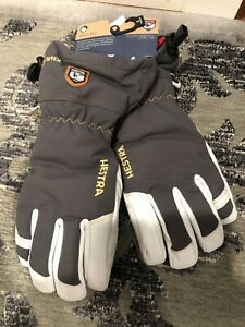 NEW Hestra Army Alpine Pro Gauntlet Leather Gore-Tex Snow Gloves Size 9 Large