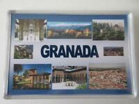 GRANADA - JUMBO FRIDGE MAGNET - The Alhambra, Generalife, Cathedral and Royal Ch