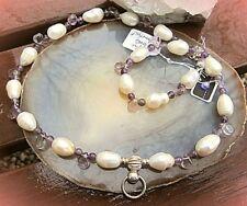dunkelperle© sinnliches halsband ring der o barockperlen amethyst silber 925
