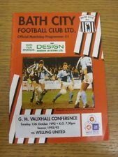 13/10/1992 Bath City v Welling United  (Light Crease). If this item has any faul
